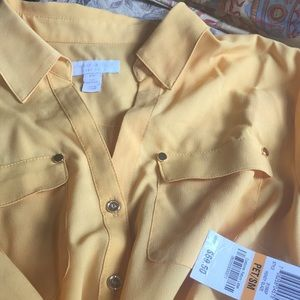 Charter Club Tops - Charter club blouse p/sm beautiful bright  yellow
